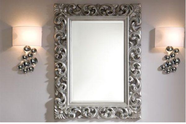Зеркало PU049  SILVER купить в салоне-студии мебели Барселона mnogospalen.ru много спален мебель Италии классические современные