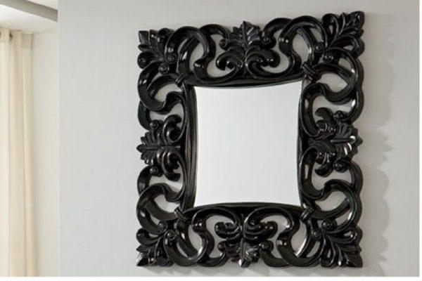 Зеркало PU021 BLACK купить в салоне-студии мебели Барселона mnogospalen.ru много спален мебель Италии классические современные