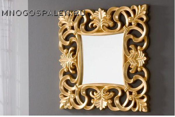 Зеркало PU021 GOLD купить в салоне-студии мебели Барселона mnogospalen.ru много спален мебель Италии классические современные