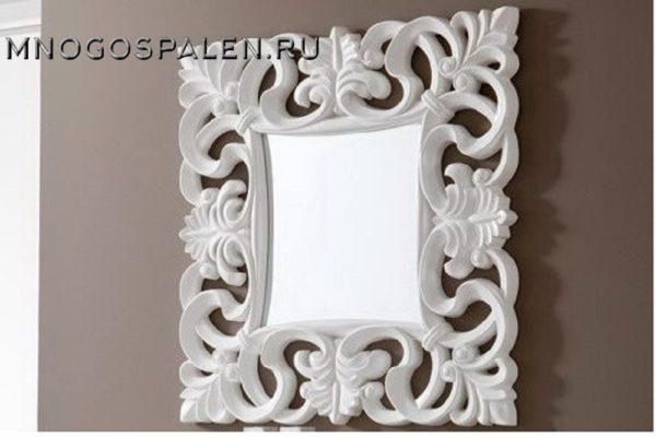 Зеркало PU021 WHITE купить в салоне-студии мебели Барселона mnogospalen.ru много спален мебель Италии классические современные