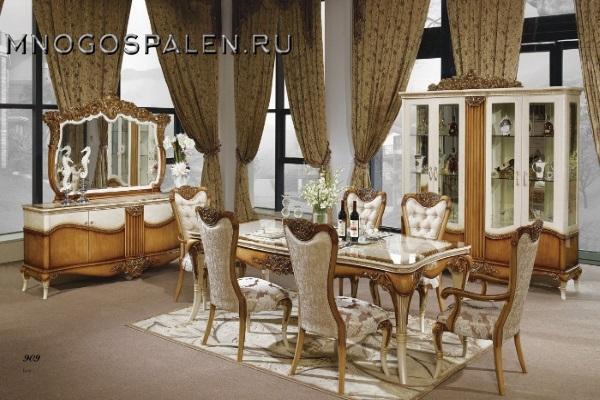 Гостиная MONTALCINA купить в салоне-студии мебели Барселона mnogospalen.ru много спален мебель Италии классические современные