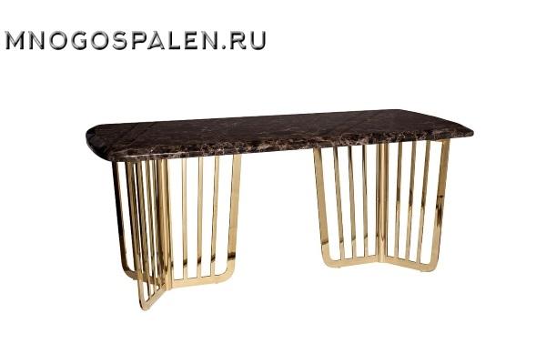Стол обеденный коричневый (искусственный мрамор) купить в салоне-студии мебели Барселона mnogospalen.ru много спален мебель Италии классические современные
