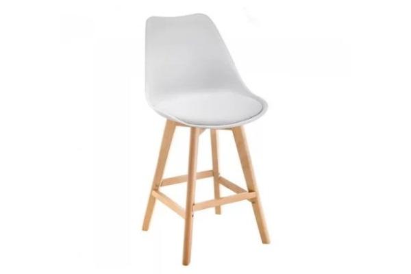 Барный стул Burbon белый купить в салоне-студии мебели Барселона mnogospalen.ru много спален мебель Италии классические современные