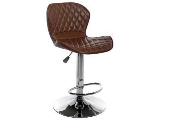 Барный стул Shanon CColl T-1002 brown leather купить в салоне-студии мебели Барселона mnogospalen.ru много спален мебель Италии классические современные
