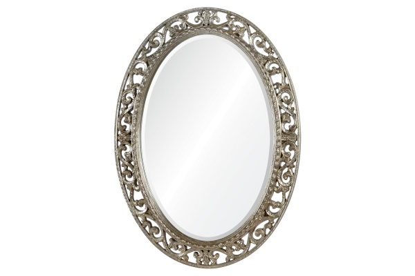 Зеркало Rosalie А88002-1 серебро купить в салоне-студии мебели Барселона mnogospalen.ru много спален мебель Италии классические современные