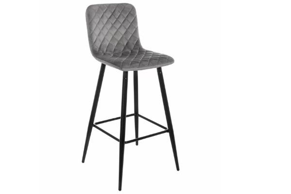 Барный стул Tarli темно-серый купить в салоне-студии мебели Барселона mnogospalen.ru много спален мебель Италии классические современные