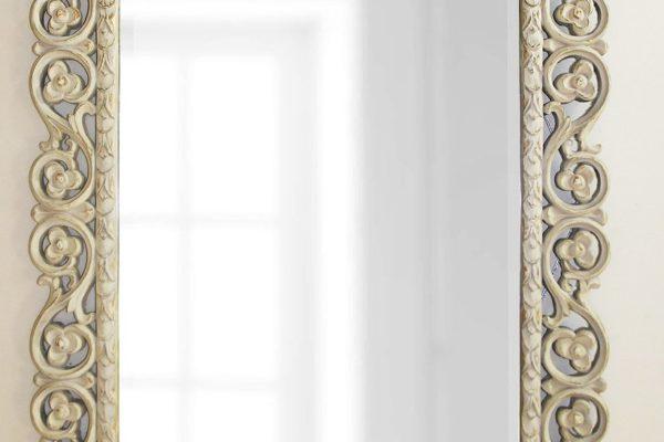 """Зеркало в раме """"Бергамо"""" Artisan Ivory LouvreHome купить в салоне-студии мебели Барселона mnogospalen.ru много спален мебель Италии классические современные"""