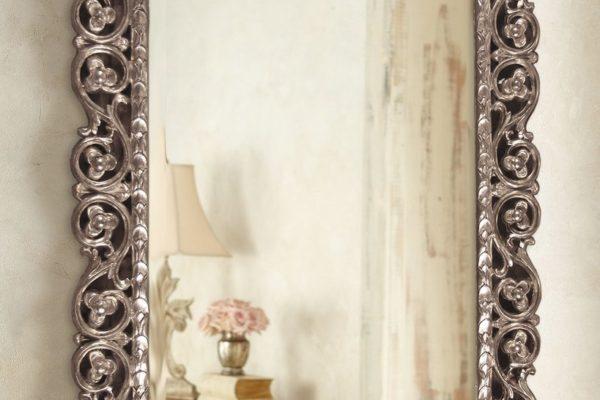 """Зеркало в раме """"Бергамо"""" Florentine Silver/19 LouvreHome купить в салоне-студии мебели Барселона mnogospalen.ru много спален мебель Италии классические современные"""